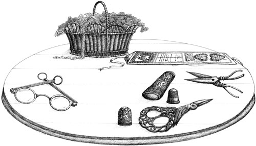 georgian embroidery tools