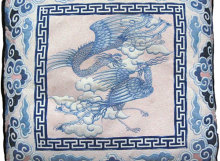 chinese cranes pillow