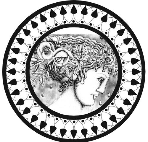 chloris plate drawing