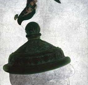 peacock topiary hat