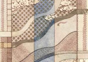 waves counterpane drawing