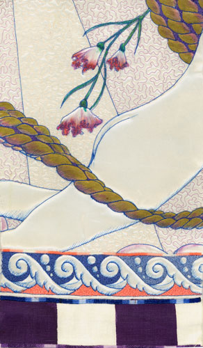 little mermaid counterpane detail