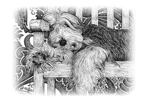 sleeping dog pet bereavement cards
