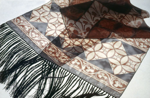 medieval tiles shawl 2
